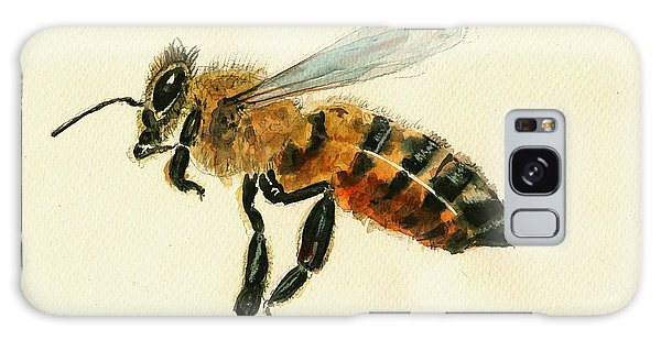Insect Galaxy Case - Honey Bee Watercolor Painting by Juan  Bosco