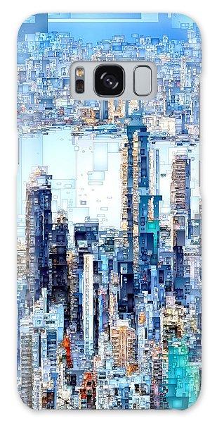 Galaxy Case featuring the digital art Hong Kong Skyline by Rafael Salazar