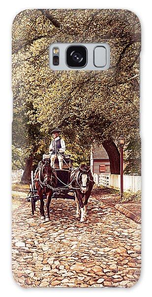Horse Drawn Wagon Galaxy Case