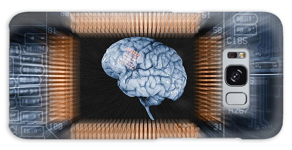 Human Brain And Communication Galaxy Case by Christian Lagereek