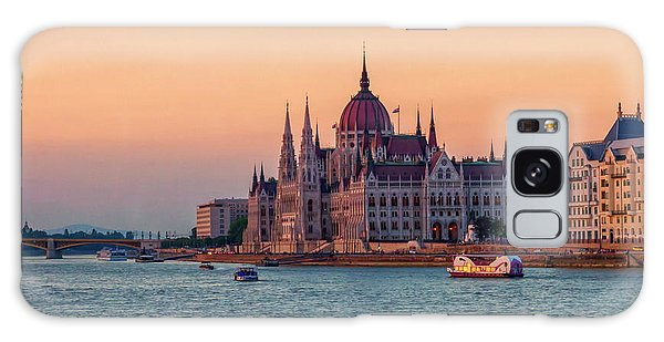 Hungarian Parliament Building In Budapest, Hungary Galaxy Case by Elenarts - Elena Duvernay photo