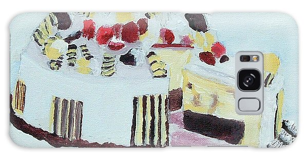 Ice Cream Cake Oil On Canvas Galaxy Case