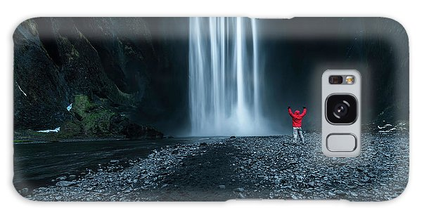 Iceland Galaxy S8 Case - Iceland Waterfall by Larry Marshall