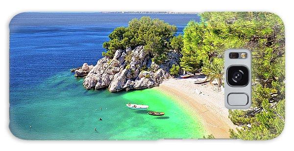 Idyllic Beach Punta Rata In Brela Aerial View Galaxy Case
