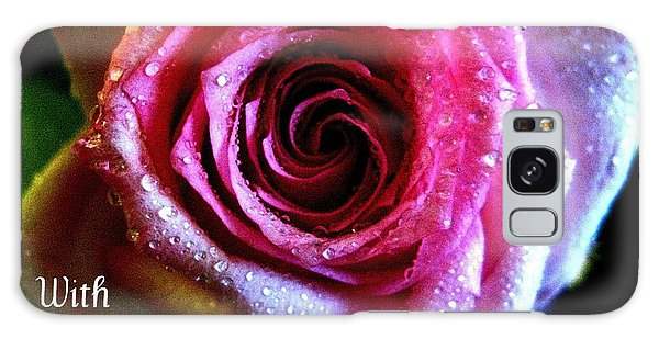 Intense Rose Galaxy Case by Shirley Sirois