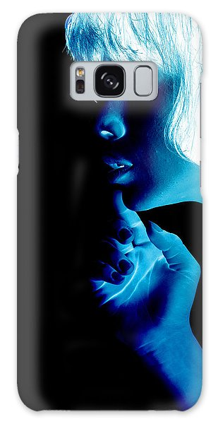 Inverted Realities - Blue  Galaxy Case