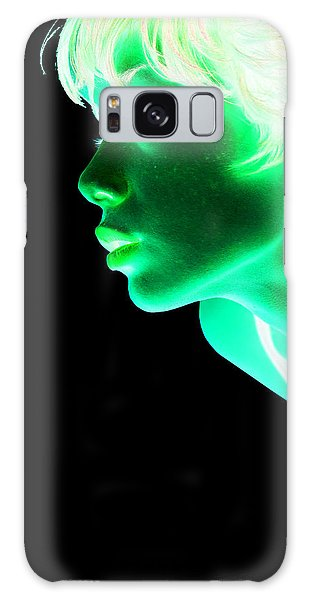 Inverted Realities - Green  Galaxy Case