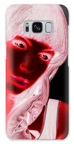 Pop Art Galaxy Case - Inverted Realities - Red  by Serge Averbukh