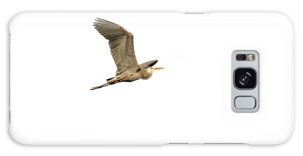 Isolated Great Blue Heron 2015-5 Galaxy Case by Thomas Young
