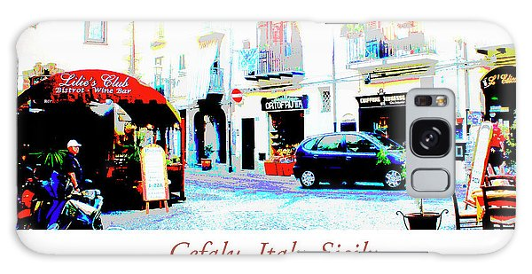 Galaxy Case - Italian City Street Scene Digital Art by A Gurmankin