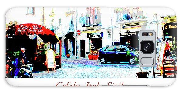 Italian City Street Scene Digital Art Galaxy Case
