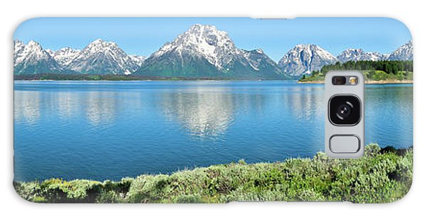 Jackson Lake Teton Panorama Galaxy Case