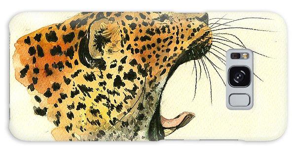 Leopard Galaxy S8 Case - Jaguar Head Painting Watercolor by Juan  Bosco