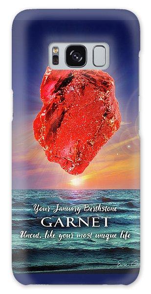 January Birthstone Garnet Galaxy Case