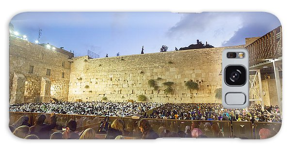 Jewish Sunrise Prayers At The Western Wall, Israel 8 Galaxy Case