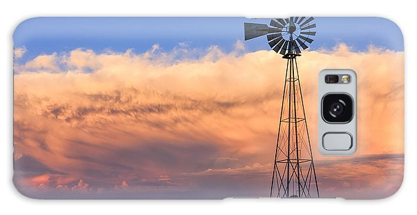 Kansas Windmill And Storm Galaxy Case