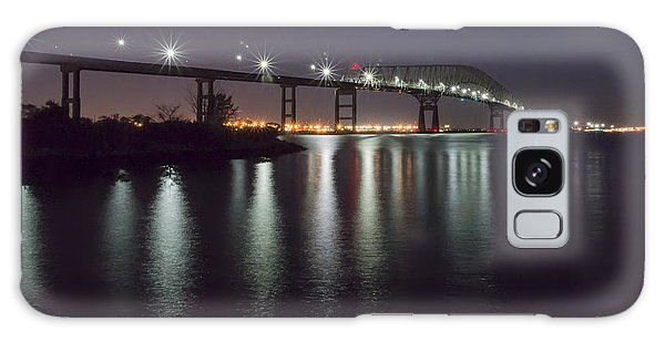 Key Bridge At Night Galaxy Case