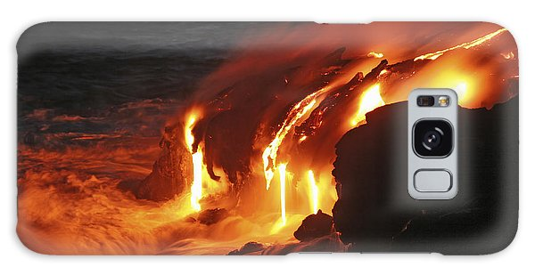 Galaxy Case featuring the photograph Kilauea Lava Flow Sea Entry, Big by Martin Rietze