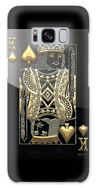 Pop Art Galaxy Case - King Of Spades In Gold On Black   by Serge Averbukh