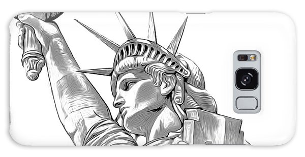 Mixed-media Galaxy Case - Lady Liberty by Greg Joens