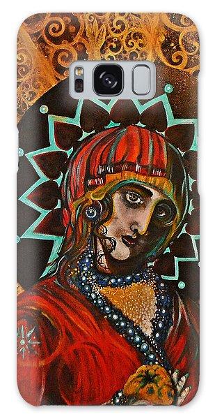 Lady Of Spades Galaxy Case by Sandro Ramani