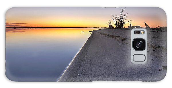 Drown Galaxy Case - Lake Bonney Sunrise Barmera Riverland South Australia by Bill  Robinson
