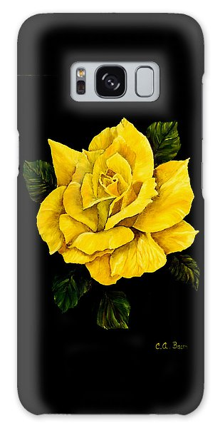 Large Yellow Rose Galaxy Case