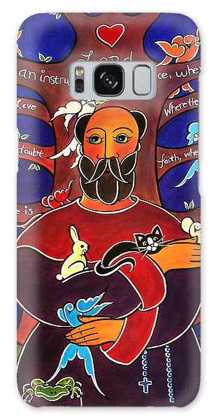 Galaxy Case featuring the painting Let Me Sow Love by Jan Oliver-Schultz
