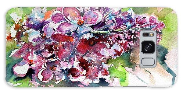 Lilac Galaxy Case by Kovacs Anna Brigitta