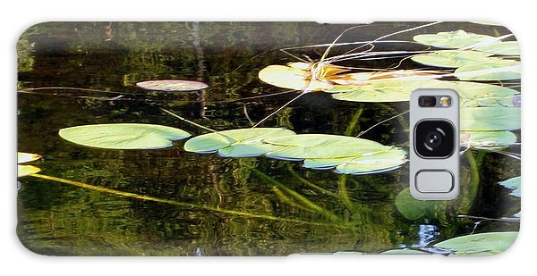 Lily Pads On The Lake Galaxy Case