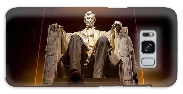 National Monument Galaxy Case - Lincoln Memorial At Night - Washington D.c. by Gary Whitton