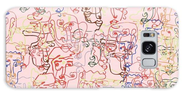 line faces I Galaxy Case