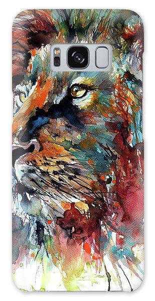 Lion Galaxy Case by Kovacs Anna Brigitta