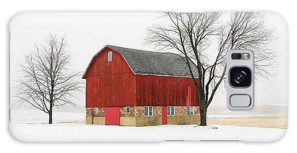 Little Red Barn Galaxy Case