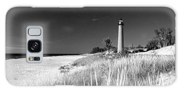 Little Sable Light Station - Film Scan Galaxy Case by Larry Carr