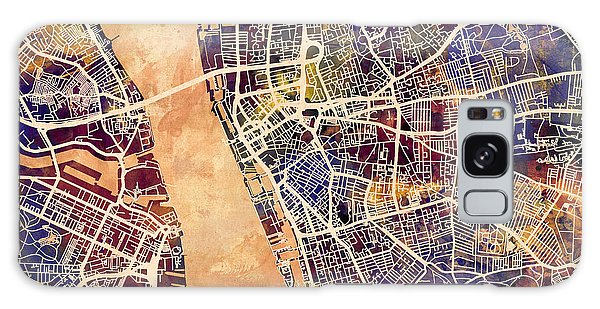 City Map Galaxy Case - Liverpool England Street Map by Michael Tompsett