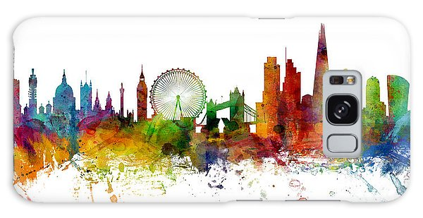 London England Skyline Panoramic Galaxy Case