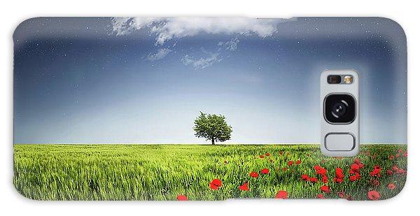 Lone Tree A Poppies Field Galaxy Case