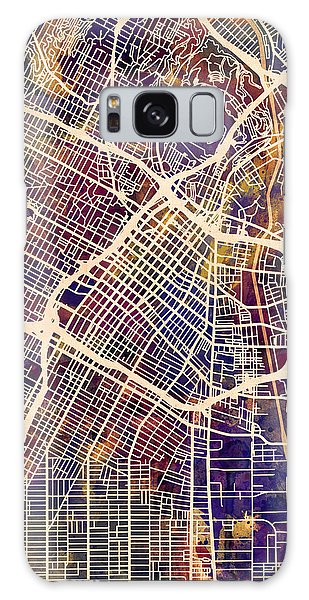 Downtown Galaxy Case - Los Angeles City Street Map by Michael Tompsett