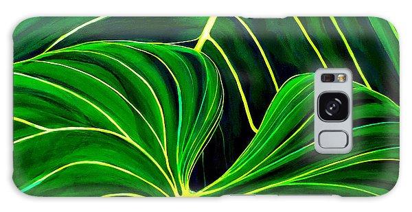 Lovely Greens Galaxy Case by Debbie Chamberlin