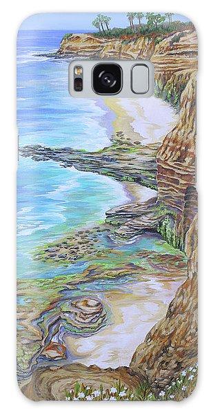 Low Tide Sunset Cliffs Galaxy Case by Jane Girardot