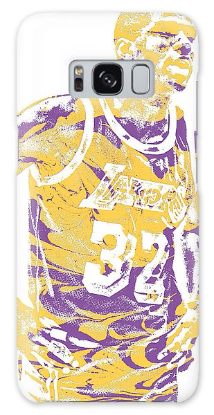 Magic Johnson Los Angeles Lakers Pixel Art 6 Galaxy Case