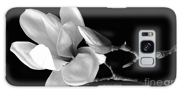 Magnolia In Monochrome Galaxy Case