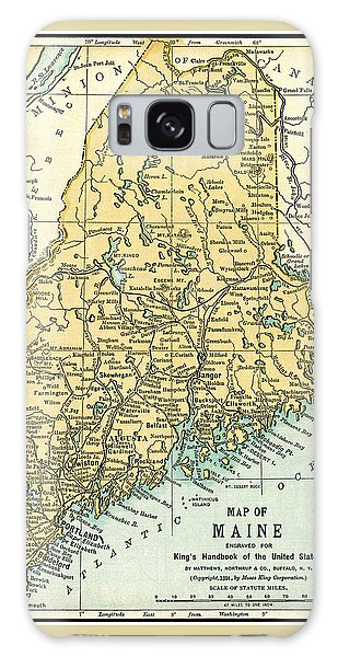 Maine Antique Map 1891 Galaxy Case