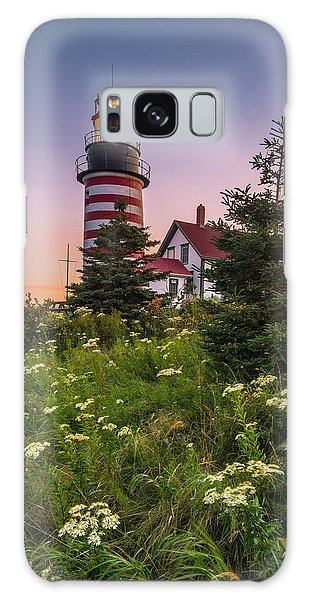 Maine West Quoddy Head Light At Sunset Galaxy Case