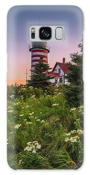 Maine West Quoddy Head Light At Sunset Galaxy Case by Ranjay Mitra