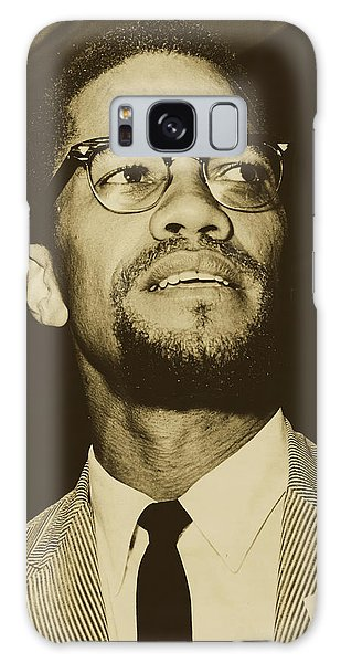 Malcom X Galaxy Case - Malcolm X 1963 by Herman Hiller