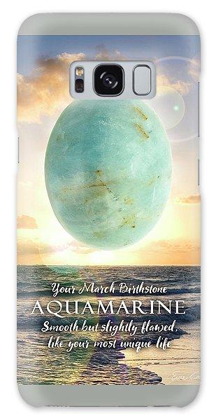March Birthstone Aquamarine Galaxy Case