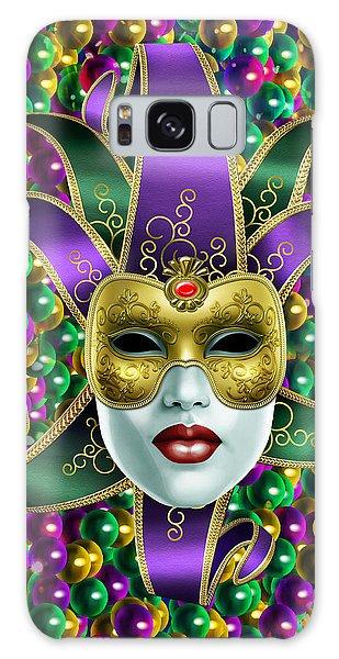 Mardi Gras Mask And Beads Galaxy Case