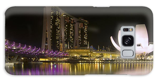 Marina Bay Sands Hotel And Artscience Museum In Singapore Galaxy Case